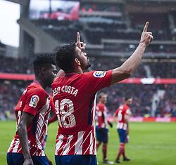 January 6, 2018 - Madrid, Spain - Diego Costa during the match between Atletico of Madrid vs. Getafe CF, week 18 of  La Liga 2017/18 at Wanda Metropolitano stadium, Madrid, SPAIN - 06th January of 2018. (Credit Image: © Jose Breton/NurPhoto via ZUMA Press)