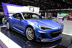11 February 2016:  Subaru ST1.<br /> <br /> First staged in 1901, the Chicago Auto Show is the largest auto show in North America and has been held more times than any other auto exposition on the continent.  It has been  presented by the Chicago Automobile Trade Association (CATA) since 1935.  It is held at McCormick Place, Chicago Illinois<br /> #CAS16