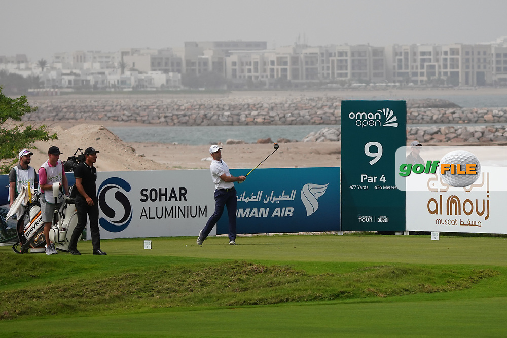 Oliver Wilson (ENG) on the 9th during Round 1 of the Oman Open 2020 at the Al Mouj Golf Club, Muscat, Oman . 27/02/2020<br /> Picture: Golffile | Thos Caffrey<br /> <br /> <br /> All photo usage must carry mandatory copyright credit (© Golffile | Thos Caffrey)