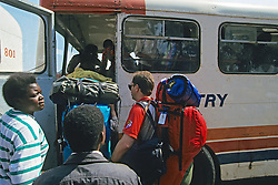 People Boarding Bus At Blantyre Bus Station