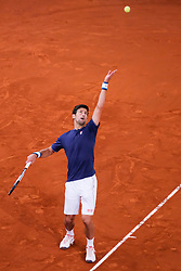 Novak Djokovic  of  Served against Feliciano Lopez  of Spain  during day six of the Mutua Madrid Open tennis at La Caja Magica on May 11, 2017 in Madrid, Spain (Photo by Oscar Gonzalez/NurPhoto) *** Please Use Credit from Credit Field ***