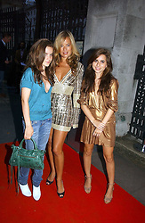 JADE JAGGER with her daughters left, AMBA JACKSON and right, ASSISI JACKSON at a party hosted by retail property group Westfield at the Natural History Museum, Cromwell Road, London SW7 on 17th September 2006.<br /><br />NON EXCLUSIVE - WORLD RIGHTS