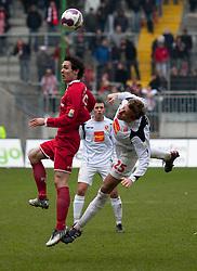 14.03.2010, Fritz Walter Stadion, Kaiserslautern, GER, 2. FBL, 1. FC Kaiserslautern vs FC Energie Cottbus, im Bild von links Lakic (FCK), Brzenska (Cottbus), EXPA Pictures © 2010, PhotoCredit: EXPA/ A. Neis