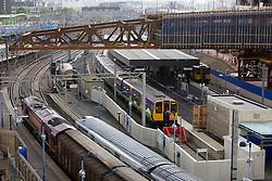 Stratford Regional Station. Construction work and the Stratford City link bridge at Stratford Regional Station. Picture taken on 28 May 09 by David Poultney.