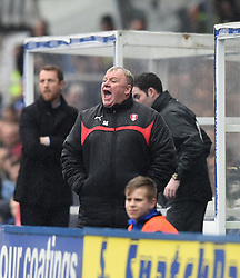 Rotherham United manager, Steve Evans in the dug-out at St Andrew's Stadium - Photo mandatory by-line: Paul Knight/JMP - Mobile: 07966 386802 - 03/04/2015 - SPORT - Football - Birmingham - St Andrew's Stadium - Birmingham City v Rotherham United - Sky Bet Championship