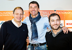 Raso Nesterovic, Saso Udovic and Marko Milic during press conference of Basketball Federation of Slovenia about Competition of Basketball and Football Legends at All-Stars 2014, on December 3, 2014 in Pivovarna Union, Ljubljana, Slovenia. Photo by Vid Ponikvar / Sportida