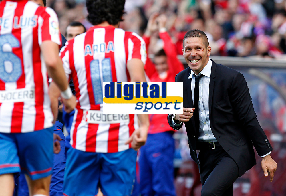 Simeone will coach Atletico Madrid until 2020. Madrid (14/04/2012).- Estadio Vicente Calderon.Liga BBVA.Atletico de Madrid-Espanyol.Arda, Simeone...Photo: Alex Cid-Fuentes / ALFAQUI/ALTERPHOTOS