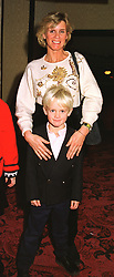 REBECCA, MARCHIONESS OF BLANDFORD and her son the EARL OF SUNDERLAND, at a reception in London on 6th December 1998.MMP 26
