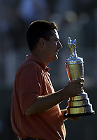 Open Champion Ben Curtis (USA) with the Champions Claret Jug. The Open Golf Championship, Royal St.Georges, Sandwich, Day 4, 20/07/2003. Credit: Colorsport / Matthew Impey DIGITAL FILE ONLY
