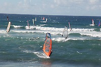 Windsurfers at Ho'okipa Beach