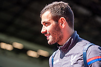 LONDON, ENGLAND - APRIL 14: Luka Milivojević (4) of Crystal Palace during the Premier League match between Crystal Palace and Brighton and Hove Albion at Selhurst Park on April 14, 2018 in London, England. (Photo by MB Media/Getty Images)