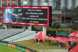 Cape Town.180207 The play at Newlands cricket stadium today has been called off due to rain..  Picture:Phando Jikelo/African News Agency(ANA)