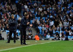 Tottenham Hotspur Manager, Andre Villas Boas urges his team on - Photo mandatory by-line: Dougie Allward/JMP - Tel: Mobile: 07966 386802 24/11/2013 - SPORT - Football - Manchester - Etihad Stadium - Manchester City v Tottenham Hotspur - Barclays Premier League