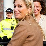NLD/Amsterdam/20130409 - Prinses Maxima houdt toespraak conferentie The Currency Exchange Fund, vertrek Prinses Maxima