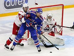 October 10, 2018 - St. Petersburg, Russia - October 10, 2018 St. Petersburg. Russia. Continental Hockey League season 2018/19. HC SKA v HC Lokomotiv. Player Alexander Dergachev  (Credit Image: © Russian Look via ZUMA Wire)