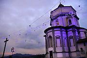 Torino Torino Chiesa Monte dei Capuccini illuminata da Rebecca Horn per Luci d'Artista