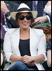 July 4, 2019 - London, London, United Kingdom - Image licensed to i-Images Picture Agency. 04/07/2019. London, United Kingdom. Meghan Markle, The Duchess of Sussex, watches Serena Williams second round match on day four of the Wimbledon Tennis Championships in London. (Credit Image: © Stephen Lock/i-Images via ZUMA Press)