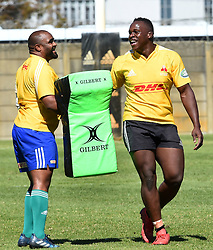 Cape Town-180911- Western Province players Alistair Vermaak and Michael Kumbirai practising some tackles during a training session at the Bellville HPC .Photographs:Phando Jikelo/African News Agency/ANA