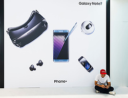 Galaxy Note 7 display at Samsung stand at 2016  IFA (Internationale Funkausstellung Berlin), Berlin, Germany