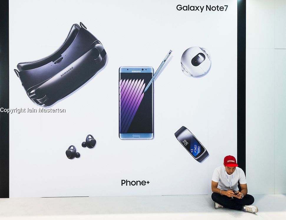 Galaxy Note 7 display at Samsung stand at 2016  IFA (Internationale Funkausstellung Berlin), Berlin, Germany