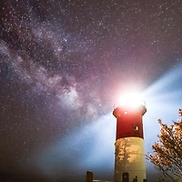 Milky Way and Nauset Lighthouse along the Cape Cod National Seashore  at Nauset Lighthouse Beach in Eastham, Massachusetts.<br /> <br /> Nauset Lighthouse Milky Way photography images are available as museum quality photography prints, canvas prints, acrylic prints, wood prints or metal prints. Fine art prints may be framed and matted to the individual liking and decorating needs:<br /> <br /> https://juergen-roth.pixels.com/featured/milky-way-and-nauset-lighthouse-juergen-roth.html<br /> <br /> Good light and happy photo making!<br /> <br /> My best,<br /> <br /> Juergen