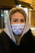 """March, 22nd 2020 - Paris, Ile-de-France, France: Paris nurses wearing a range of masks and facial coverings in the hope of protecting themselves from the spread of the Coronavirus, during the sixth day of near total lockdown imposed in France. Almost a week after President of France, Emmanuel Macron, said the citizens must stay at home from midday on Tuesday for at least 15 days. He said """"We are at war, a public health war, certainly but we are at war, against an invisible and elusive enemy"""". All journeys outside the home unless justified for essential professional or health reasons are outlawed. Anyone flouting the new regulations would be punished. Nigel Dickinson"""