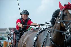 Werner Ulrich, (SUI), Cardiuweel Du Premo, Contesco, GB Rocky v Worrenberg, Mikado N, Rubinell - Driving Marathon - Alltech FEI World Equestrian Games™ 2014 - Normandy, France.<br /> © Hippo Foto Team - Becky Stroud<br /> 06/09/2014