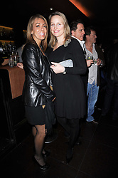 Left to right, GRANIA STEVENSON and LILLY BARCLAY at a birthday party for Laurie Bilton held at Maddox Club, 2 Mill Street, London on 5th February 2010.
