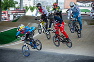 #187 (GARCIA Jared) USA at Round 6 of the 2019 UCI BMX Supercross World Cup in Saint-Quentin-En-Yvelines, France