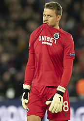 Simon MIGNOLLET (Goal Keeper) from BRUBES<br /> In action during the UEFA Champions League Group A football match Paris Saint-Germain (PSG) v Club Brugge at the Parc des Princes stadium in Paris, France, on November 6, 2019. Photo by Loic BaratouxABACAPRESS.COM