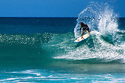 Oahu's famed Pipeline surf break on a small day along the North Shore.