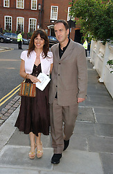 LISE MEYER and ANGUS DEAYTON he is the TV presenter  at Sir David & Lady Carina Frost's annual summer party held in Carlyle Square, Chelsea, London on 5th July 2006.<br /><br />NON EXCLUSIVE - WORLD RIGHTS