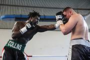 Boxen: Giants Professional Boxing, Session 3, Hamburg, 17.04.2021<br /> Albon Pervizaj (GER) - Collins Omondi Ojal (KE)<br /> © Torsten Helmke