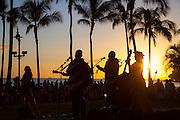 Sunset hula show, Waikiki, Honolulu, Oahu, Hawaii
