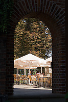 Cafe next to Wawel Cathedral in Krakow Poland