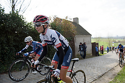 Cecilie Uttrup Ludwig on Paterberg at Dwars door Vlaanderen 2017. A 114 km road race on March 22nd 2017, from Tielt to Waregem, Belgium. (Photo by Sean Robinson/Velofocus)
