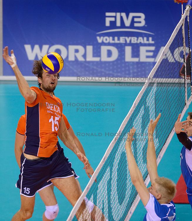 20150614 NED: World League Nederland - Finland, Almere<br /> Thomas Koelewijn #15