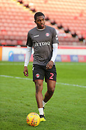 Charlton Athletic defender Anfernee Dijksteel (2) in warm up  during the EFL Sky Bet League 1 match between Barnsley and Charlton Athletic at Oakwell, Barnsley, England on 29 December 2018.