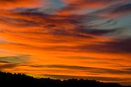 Cirrus clouds at sunset, California