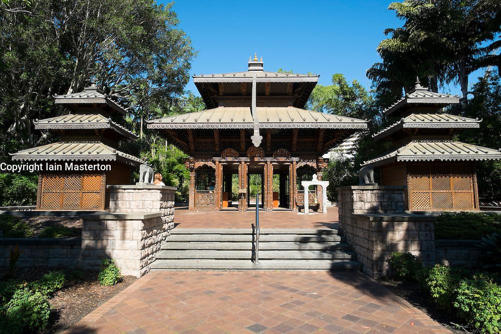 Nepalese Peace Pagoda in Southbank Brisbane Queensland Australia