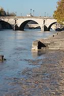 France. Paris. 4th district. Seine river quay des Celestins.  ..   / le quai des Celestins