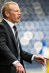 Falkirk's manager Gary Holt.<br /> Falkirk 2 v 1 Queen of the South, Scottish Championship 5/10/2013.<br /> ©Michael Schofield.