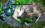 Hedgehog mural, Glasgow , Scotland