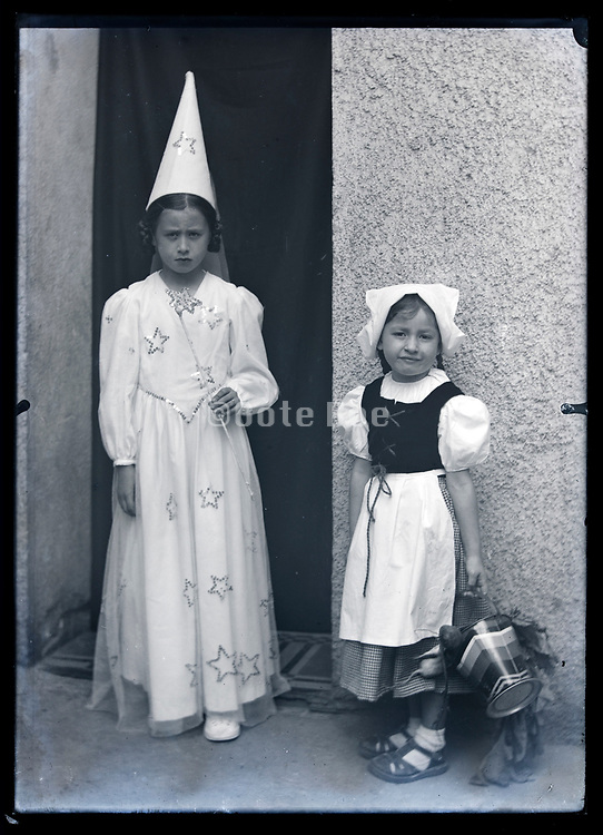 children dressed op for a costumed event France circa 1930s