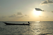 A traditional  Long tailed boat, Thailand at sunset