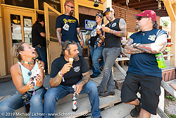 Heather has ice cream for the gang on the Sturgis Black Hills Motorcycle Rally. SD, USA. Wednesday, August 7, 2019. Photography ©2019 Michael Lichter.