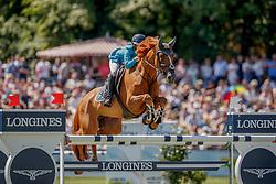 Goldstein Danielle, ISR, Lizzimary<br /> Deutsches Spring- und Dressur Derby Hamburg 2017<br /> © Hippo Foto - Stefan Lafrentz<br /> 27-05-2017