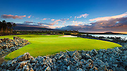 Hole 17 at the Four Seasons Hualalai Golf Course, Kohala Coast, The Big Island, Hawaii USA