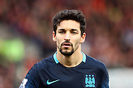 Jesus Navas of Manchester City looks on. Barclays Premier league match, Stoke city v Manchester city at the Britannia Stadium in Stoke on Trent, Staffs on Saturday 5th December 2015.<br /> pic by Chris Stading, Andrew Orchard sports photography.