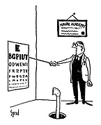 (A periscope takes an eyetest at a Naval Academy)
